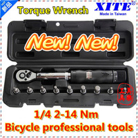 "XITE 1/4""DR 2-14Nm 10 piece torque wrench Bicycle bike tools kit set tool bike repair spanner"