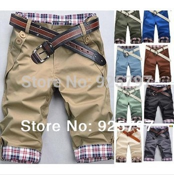 new 2014 summer brand Fashion fitness sports summer men short trousers Men Leisure Men's jeans beach man