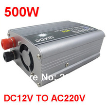 Free Shipping DC12V to AC 220V 500W USB Car Power Inverter Adapter Automatic Thermal Shutdown Power Inverter(China (Mainland))