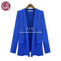 Brand New 2013 autumn -summer Runway Blazers Women Coat Casacos Femininos Long Sleeve Jackets Free shipping