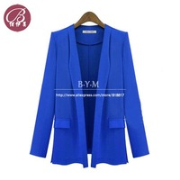 Brand New 2013 autumn -summer Runway Blazers Women Coat Casacos Femininos Long Sleeve Jackets Free shipping