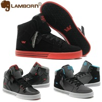 High Quality Justin Bieber Shoes for Men Vaider Black Red 3 Colors Leisure High Top Flat Heel Brand Skateboarding Shoes Big Size