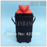 Hight Quality Warning Switch Emergency Switch Hazard AC Switch  for AUDI A6 C5 OEM:4B0 941 509D