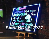 Hot  sale acrylic led  writing board 60x80x1.2cm for shops/restaurants/cafes advertising