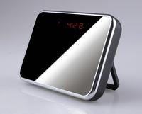 2014 Mini DVR Clock Hidden Camera,Mirror Table Clock mini camcorder with Video Recorder,Remote Control,Thermometer Display.CL10
