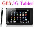 "7"" AOETE mtk877 Dual Core Build in 3G GPS Smart Tablet Phone Call Capacitive 1024*600 Bluetooth TV FM(China (Mainland))"