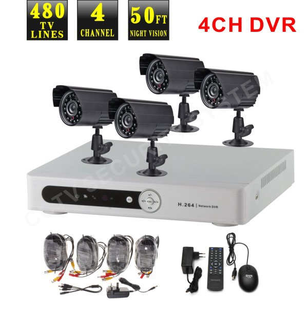 recorder camera DVR 4 Channel outdoor Surveillance Digital Video Recorder(China (Mainland))