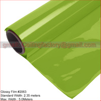 Glossy Film #2063 Standard size is 2.35Meters X100Meters length . Thickness is 0.18MM;stretch ceiling Profile