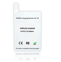 Free Shipping  Qi Standard Wireless charger Adapter Wireless charging Receiver  tag for SAMSUNG  Galaxy S4