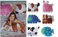 New Children Pets Pillowcase kids doomagic pillow case,pillow cover,pillowcase 6 Animal styles Pillows covers 1set/lot
