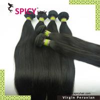Free Shipping Top quality Spicy 100% Virgin Peruvian straight hair weaving  2pcs per lot
