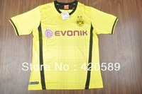 2013/14 Borussia Dortmund home yellow soccer football jersey Reus Lewandowski Thailand Quality BVB soccer shirt uniforms