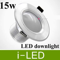 6p/lot 1350lm 15W led Downlights High quality aluminum led recessed downlight  AC85-265V Cool white/ Warm white Free shipping
