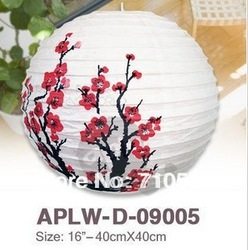 Free Shipping Chinese Ideas 6pc/lot 40cm Mixed Patterns Plum/Bamboo Chinese Paper Lanterns Wedding Party Home Hanging Decoration(China (Mainland))