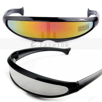 Hot Sale! 2013 Fashion New Goggles Unisex Summer Shade Science Fiction Style UV400 Sunglasses 120-0020