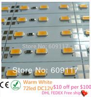 led bar 12v SMD5730 18W/M bar lights 72 chips dc rigid led strip use showcase home party lamp ultra slim 100cm/pcs 18pcs/lot
