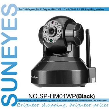 SunEyes SP-HM01WP 720P 1.0MP HD IP Camera Wireless P2P Plug and Play IR Cut Night Vision Pan/Tilt Two Way Audio Micro SD Slot