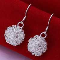 Free Shipping Wholesale 925 Sterling Silver Earring,925 Silver Fashion Jewelry,Tennis Ball Earrings SMTE076