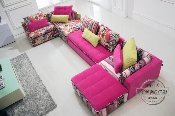 Set Room Fashion : about U BEST Colorful Fabric sectional sofa set,fashion living room ...