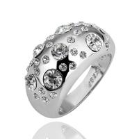 White Natural Crystal Women Ring Hot Sell Korean US Ring 18K Platinum Free Shipping