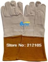 Leather Work Gloves TIG MIG Gloves Goat Skin Leather Welding Gloves