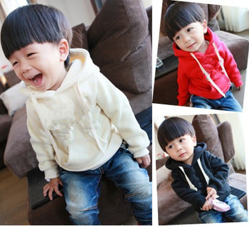 XZ112,free shipping! 2013 New Arrive cotton children coat casual boy hoody autumn in stock brand kid jacket Wholesale and Retail
