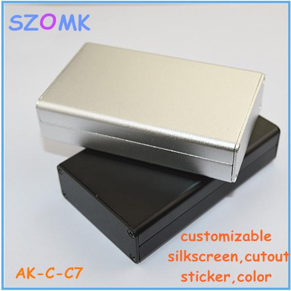 1 piece aluminum extrusion enclosure for electronics junction box aluminum project enclosure box housing(China (Mainland))