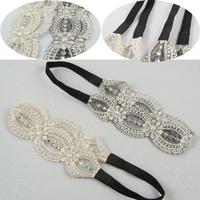 Wholesale 12pcs/lot Pearl/Rhinestones Lace Headband for Women Elegant LadiesHairbands Hair Accessories