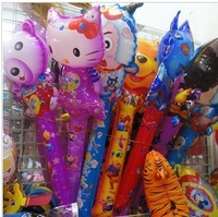 wholesale large Design cartoon animal ballon blow stick Tinkerbell cheering foil toy pet balloon for birthday  party decorations