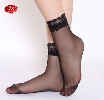 Free shipping ladies  lace bulk ankle socks  sexy black bulk woman socks thin cool summer