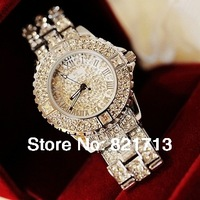 New 2014 High quality sparkling full rhinestone mantianxing crystal watches rhinestone table ladies watch