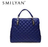 Free shipping! SMILYAN  Retro Vintage packet rhombohedrons case grain leather bag commuter ol laptop Shoulder Bag Handbag