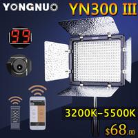 Bi-Color Yongnuo YN300 III YN-300 lIl 3200K-5500K Pro LED Video Light for Sony Canon Nikon Camera Camcorder