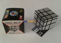 60pcs/lot  5.7cm shengshou SS 3x3 mirror cube silvered sticker Speed cubing Twist puzzle Educational toy Fedex/EMS Free shipping