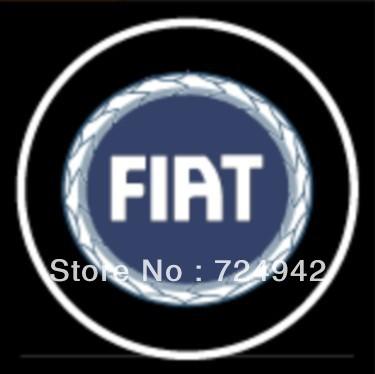 FIAT LOGO car logo lights LED door welcome lights ghost shadow light B12 super brightness freeshipping(China (Mainland))