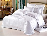 BD64 100% cotton pure 40S satin weave  comforter bedding set Full/Queen/King hotel hospital gasthaus