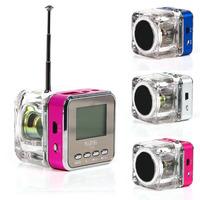 USB Mini Speaker HiFi Music MP3/4 Player Micro SD TF FM Radio White 2013 New Design # L01469