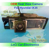 Free shipping! HD Rear View Hyundai IX35 CCD night vision car reverse camera auto license plate light camera