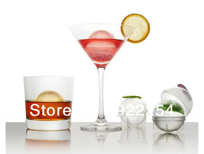 New Fashion 8 pieces/lot Bigger Ice Ball Sphere model Fruit Ice Cube Tray Bricks Tray Maker Whiskey Cooktail Free shipping(China (Mainland))