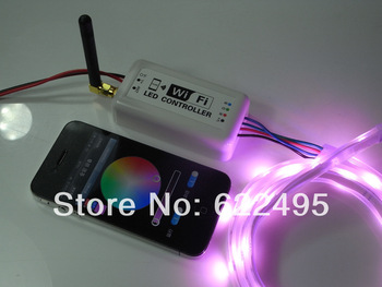 New Iphone,Ipad,Android mobile phone 2.3 Version or IOS system wifi Controller for 5050 RGB LED Strip, LED Ribbon, RGB lamp