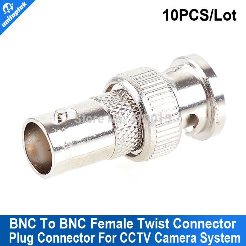 10PCS/LOT CCTV compression BNC Connector BNC TO BNC(China (Mainland))