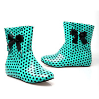 NEW 2014 Fashion Women Boots Sweet Bow Round Rubber Sole Boots Within The Higher SHL5128