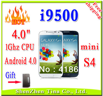 New 4.0 inch mini i9500 S4 Smart phone 1GHz CPU Android 4.0 Dual SIM Wifi phone support Polish Hebrew Magyar Cestina language