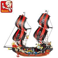 Sluban Building Blocks Hot Toy Educational Assembling BLocks Toy for Boy the Black Pearl Pirate Ship Boat Compatible Blocks Gift