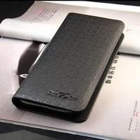 2013 New Luxury Fashion Men Male Genuine Leather+PU Wallet Business Card Holder Bag Black/Coffee Purse Free Shipping WBG0364