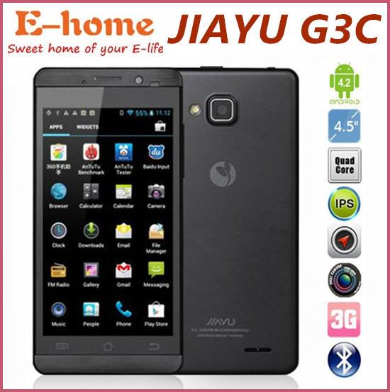 """Upgrade JIAYU G3 G3C G3S G3T MTK6582 Quad Core Android 4.2 Phone 1G RAM+4G ROM 4.5"""" IPS Gorilla Screen 3G GPS Camera 8.0 Mp(China (Mainland))"""