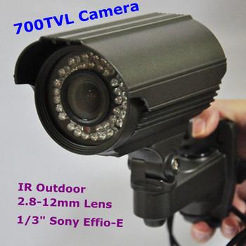 "Christmas  700TVL 1/3"" Sony Effio CCD 2.8-12mm IR Outdoor Nightvision CCTV Security Camera"