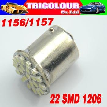 10PCS 1156 22smd 1206 led 1157 3496 5007 5008 5009 22 SMD 1206 Car Turn signal led light Brake light Wedge Led lamp 12V #LF01