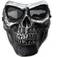 Free Shipping New Death Skull Bone Airsoft Mask Full Face Protect Mask Halloween Party Mask PW0019  Wholesale Drop Shipping