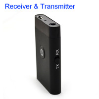 Bluetooth audio transmitter and receiver with 3.5mm audio cable, freely switch adapter, for car, PC, TV, iPod, speakers, laptop